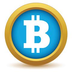 Gold Bitcoin icon