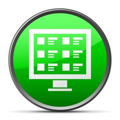 White Computer Monitor icon