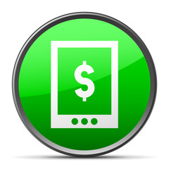 White Digital Tablet icon