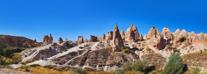 Panorama of Camel rock at Cappadocia Turkey