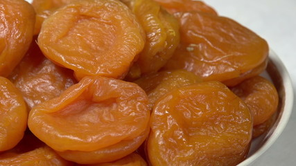 Bright Dried Apricots on a Plate