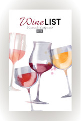 Watercolor vector wine background