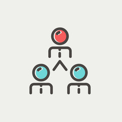 Business team thin line icon