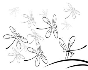 libelle wandtattoo
