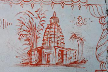 India, Représentation Hindouiste, village Pattadakal 5645