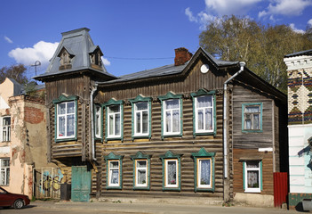 Historic house in Kimry. Tver Oblast. Russia