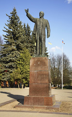 Monument to Lenin in Kimry. Tver Oblast. Russia