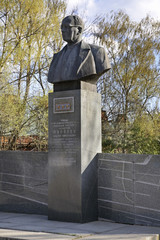 Monument to Tupolev in Kimry. Tver Oblast. Russia
