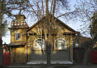 Old house in Kimry. Tver Oblast. Russia