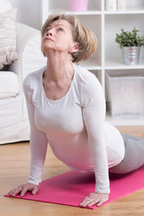 Woman doing back extension exercise