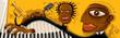 Abstract Jazz Band, Sax, Piano (Vector Art)