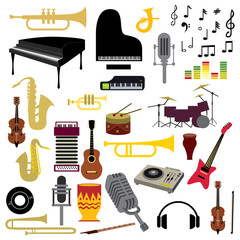 Music Instrument Icon Collection (Vector Art)
