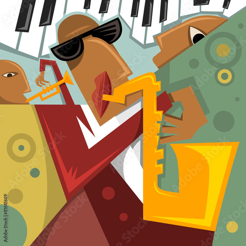 Abstract Cubic Art Jazz Event (Vector ARt) - 81641669