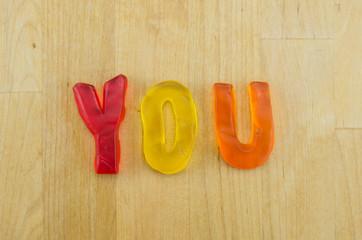 Gummy Words You