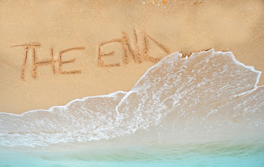 the end written in sand