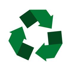 Recycling center. Circle arrows. Vector illustration.