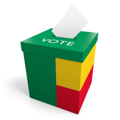 Benin election ballot box for collecting votes
