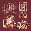 Labor Day vintage hand-lettering designs - 81644425