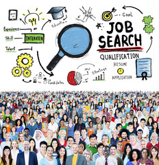 Job Search Qualification Resume Recruitment Hiring Concept