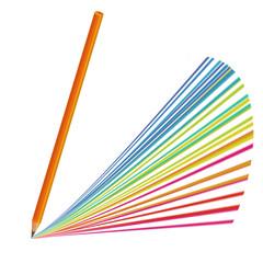 Изолированный Цветной Карандаш Рисовать Радуга