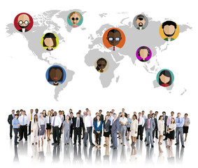 Global Community World People Social Networking Concept