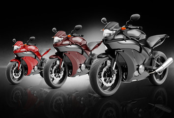 Motorcycle Motorbike Bike Riding Rider Contemporary Concept