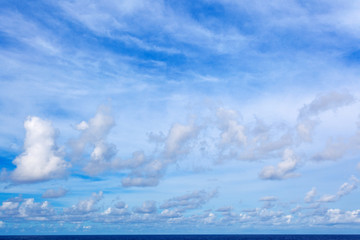 ciel bleu et nuages au-dessus de l'horizon