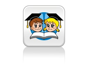 child learn scholar education book logo image vector