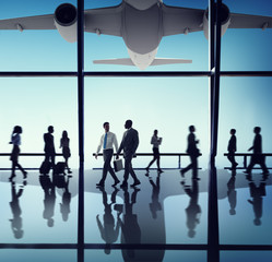 Airplane Aircraft Airport Business Travel Flight Concept