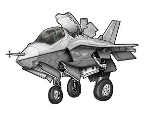 US Marine Corps F-35C Lignting II Joint Strike Fighter
