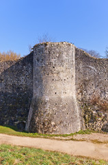 Tower (XIII c.) of ramparts in Provins France. UNESCO site