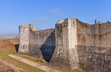 Towers (XIII c.) of ramparts in Provins France. UNESCO site