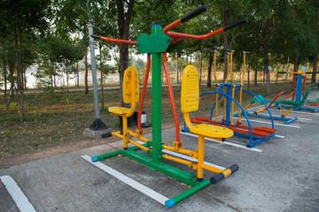 Exercise equipment in public park