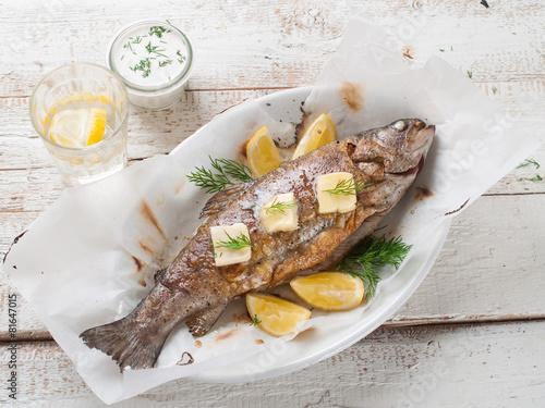 Poster Snoepjes Grilled fish