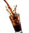 Leinwanddruck Bild - Cola with ice