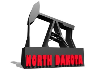 3d oil pump model with north dakota state name