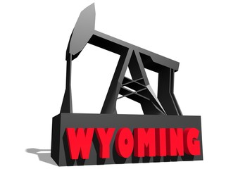 3d oil pump model with wyoming state name