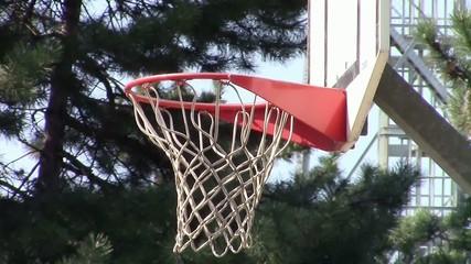 Basketball hoop throwing