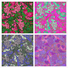 Seamless texture of roses.