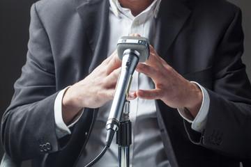 business man having a speech