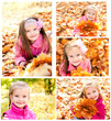 Collection of photos cute smiling little girl