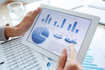 Presentation in digital tablet