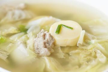 Thai food, tofu soup