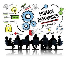 Human Resources Employment Job Teamwork Business Meeting Concept