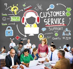 Customer Service Satisfaction Consumerism Support Concept