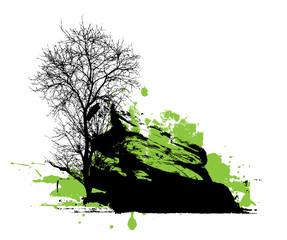 Dead Tree Halloween Banner