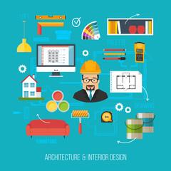 Architecture and interior design concept. Architect or developer