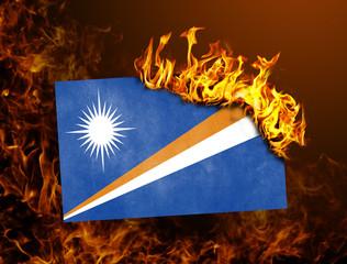 Flag burning - Marshall Islands