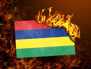 Flag burning - Mauritius