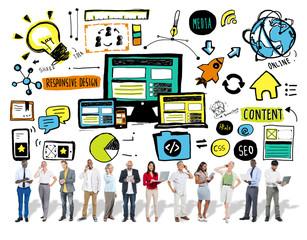 Responsive Design Digital Communication Content Concept